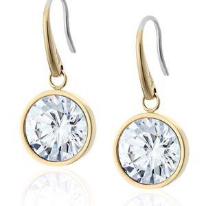NWT Michael Kors Gold Tone Drop Earrings